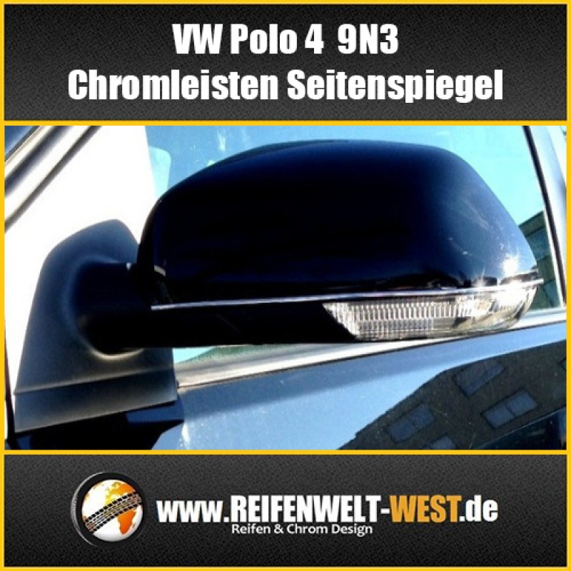 VW-Polo-4-9N3-Chromleisten-Seitenspiegel